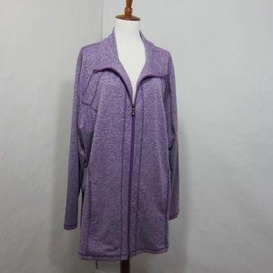 Catherine's Purple Athletic Zip Up Jacket *NN6